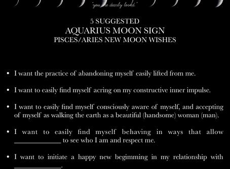 AQUARIUS MOON SIGN April New Moon READING 2018