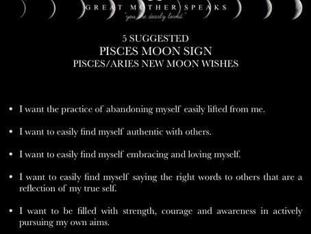 PISCES MOON SIGN April New Moon READING 2018