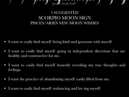 SCORPIO  MOON SIGN April New Moon READING 2018