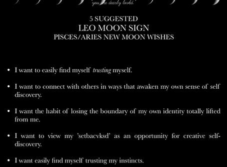 LEO MOON SIGN April New Moon READING 2018