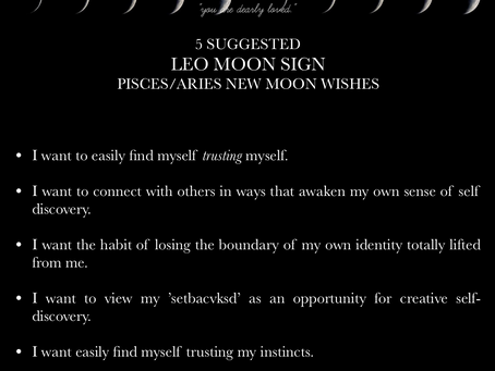 LEO MOON SIGN April New Moon READING 2018