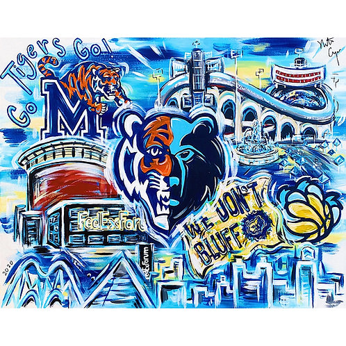 Pop Art Memphis Sports Print