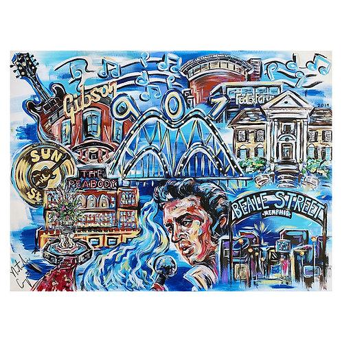 Pop Art Memphis Tourism Print