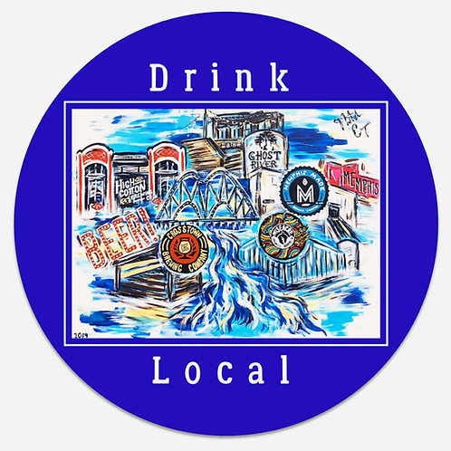 "Pop Art ""Drink Local"" Coaster (comes in set of 4)"