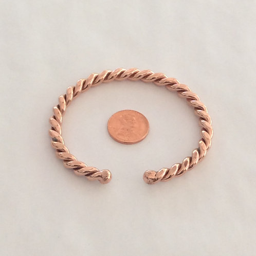 BC7 100% COPPER TWISTED BRACELET