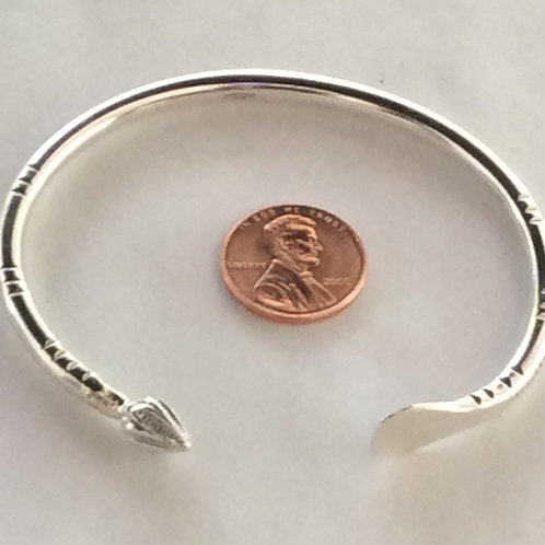 BS36 Sterling Silver Half Coco Palm Bracelet