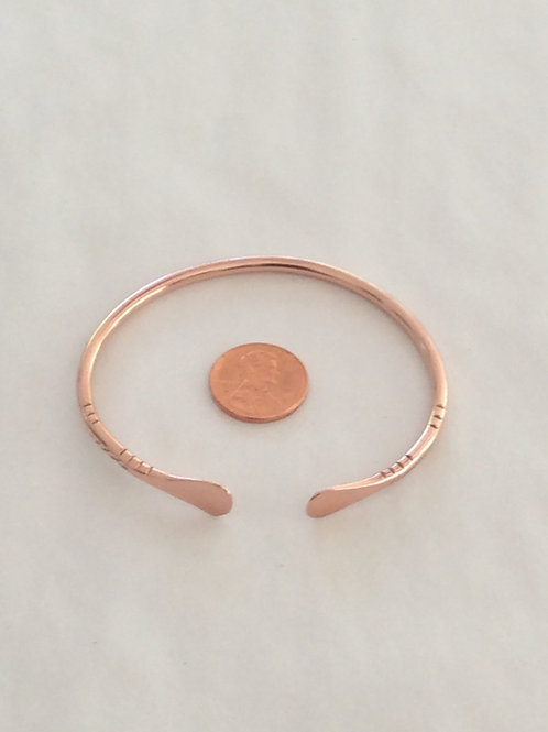 BC13 100% COPPER STRAIGHT WIRE BRACELET