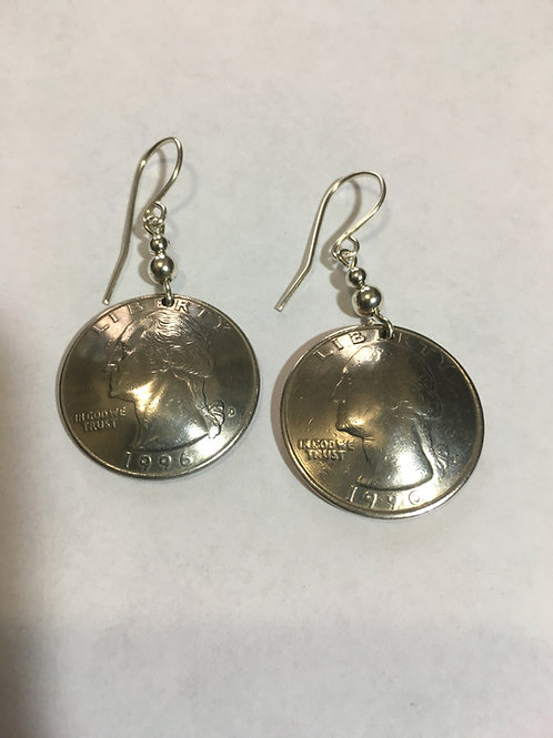 MS14 COIN QUARTER EARRINGS