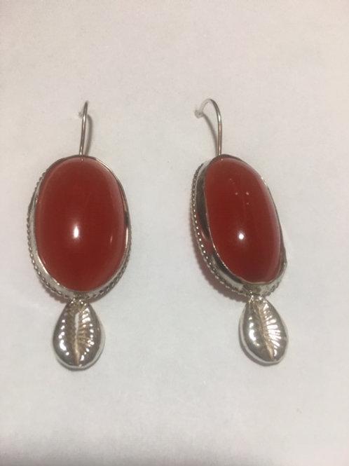 AE22 Cherry African Amber Earrings