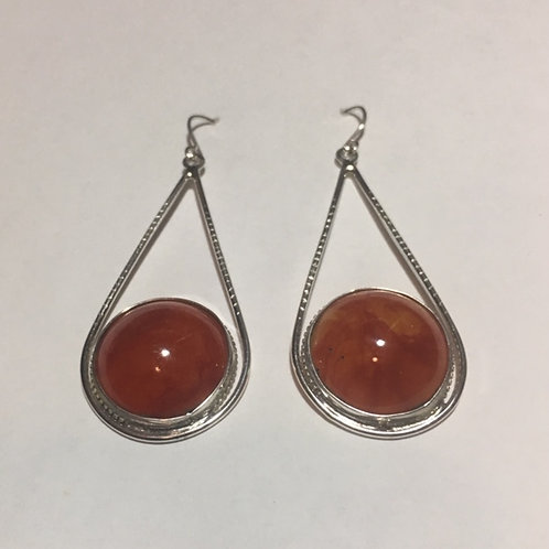 AE21 Cherry African Amber Earrings