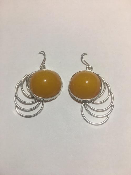 AE25 African Amber Earrings