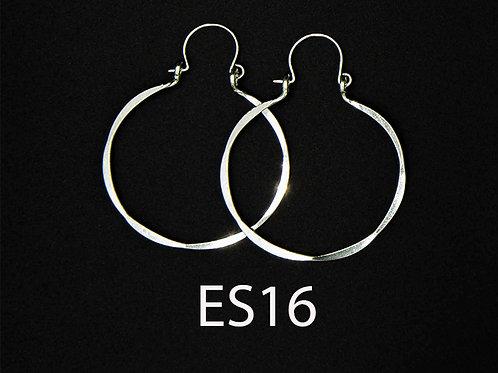 ES16  Sterling  Silver 1.5 inch Long Wire Barrel Earrings
