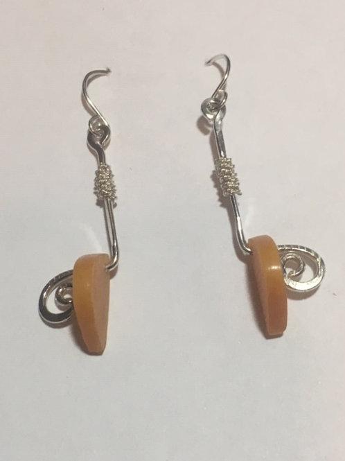 AE6 African Amber Earrings