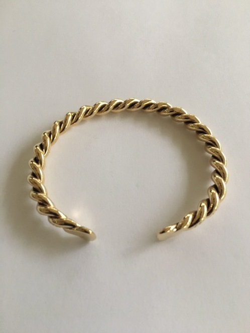 BB3 100% BRASS TWISTED BRACELET