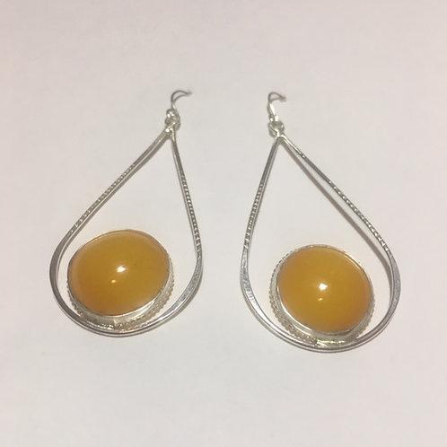 AE32 African Amber Earrings