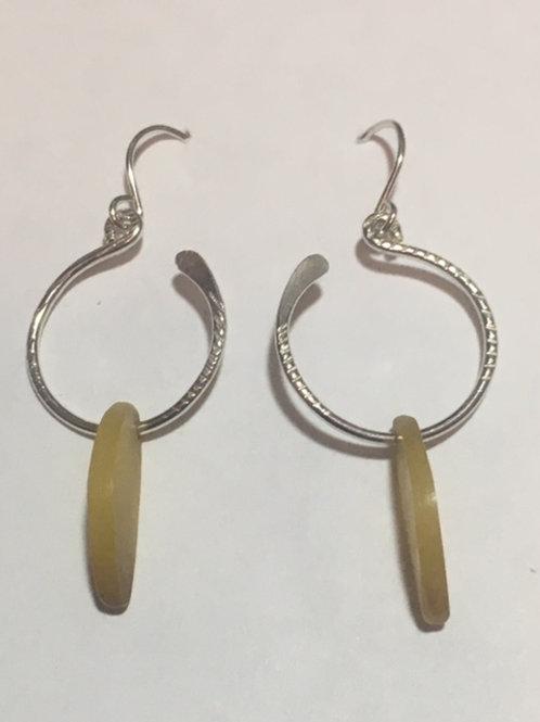 AE4  African Amber Earrings