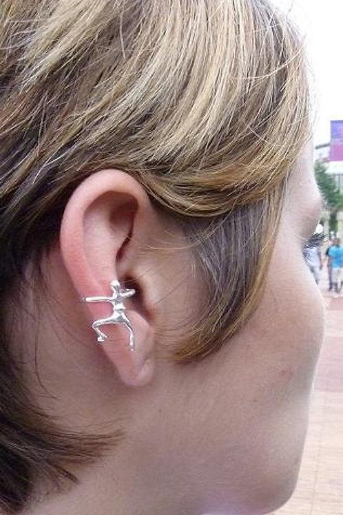 EARC9 Man Hug Ear Cuff (Silver, Brass)