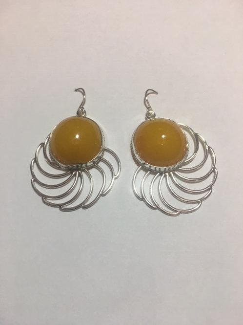AE8 African Amber Earrings