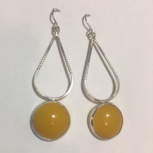 AE1 African Amber Earrings