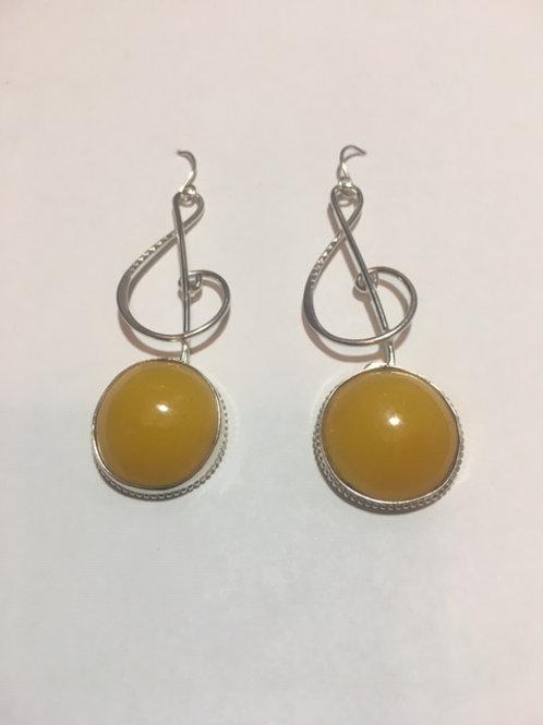 AE29 African Amber Earrings