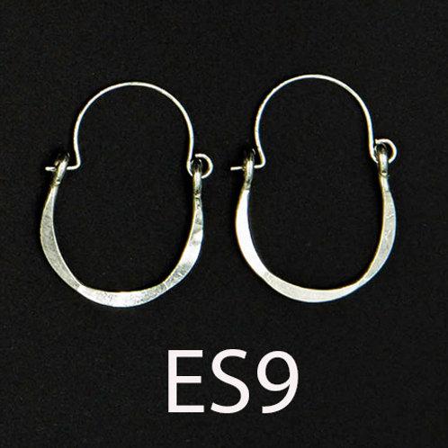 ES9 Sterling Silver 1.25 inch Long Wire Tear Drop Earrings