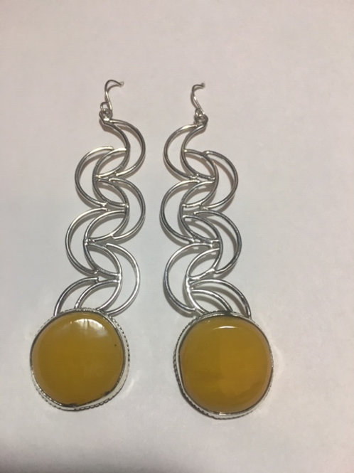 AE18 African Amber Earrings