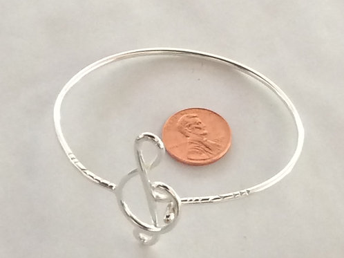 BS42 STERLING SILVER MUSIC NOTE BRACELET