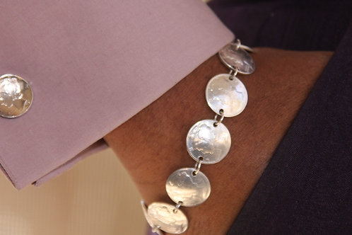MS3 SOLDERED STERLING SILVER COIN LIBERTY  DIME BRACELET