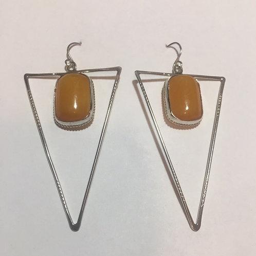 AE11 African Amber Earrings