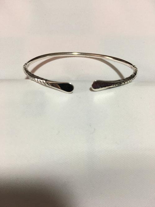 BS43 Sterling Silver Plain Bracelet