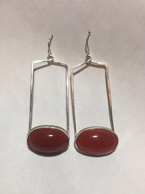 AE20 Cherry African Amber Earrings