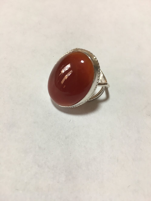 RS2 STERLING SILVER CARNELIAN RING (25 X 18) Stone