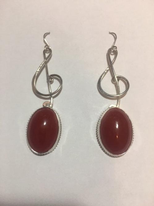AE30 Cherry African Amber Earrings