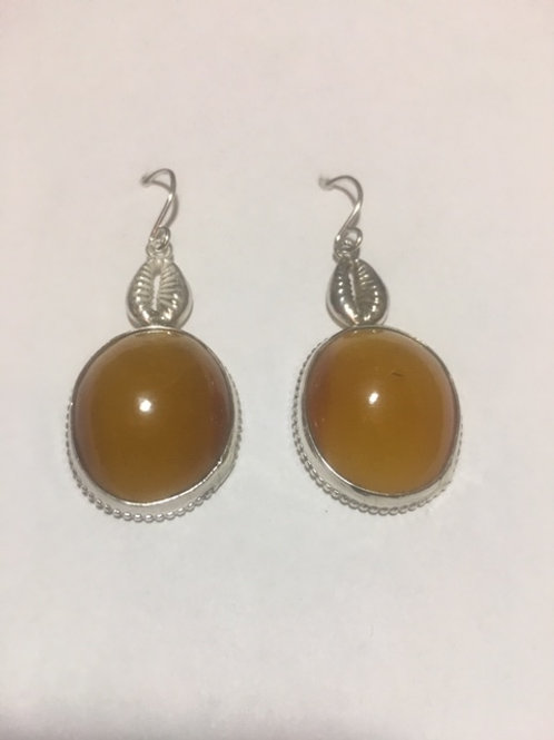 AE24 African Amber Earrings