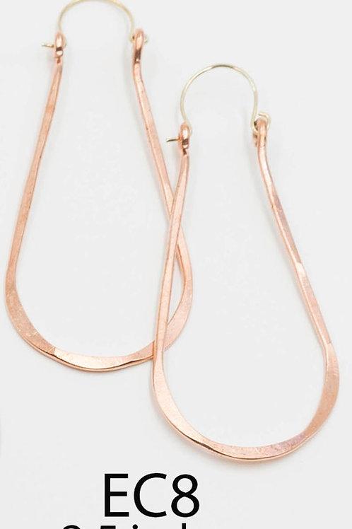 EC8 100% Copper Wire Tear Drop 2.5 inch Long Earrings