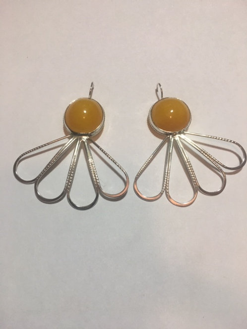 AE28 African Amber Earrings
