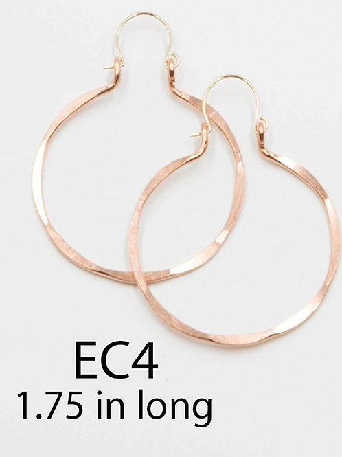 EC4 100% Copper Wire Barrel 1.5 inch Long Earrings