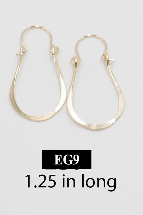 EG9 14 K Gold Filled Wire 1.25 inch Tear Drop Earrings
