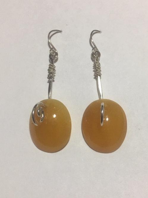 AE16 African Amber Earrings