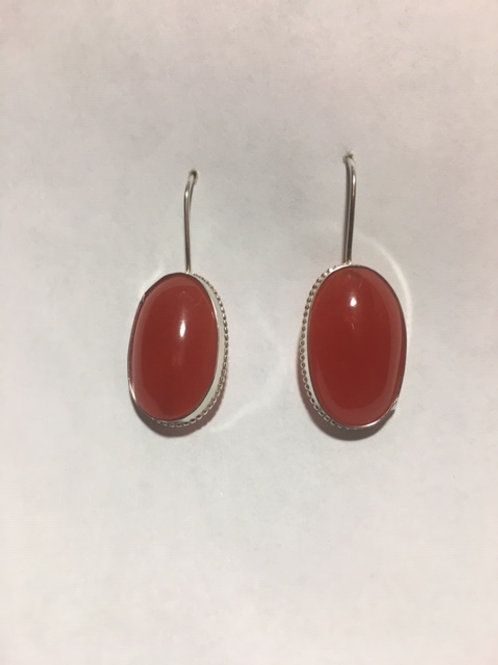 AE19 Cherry African Amber Earrings