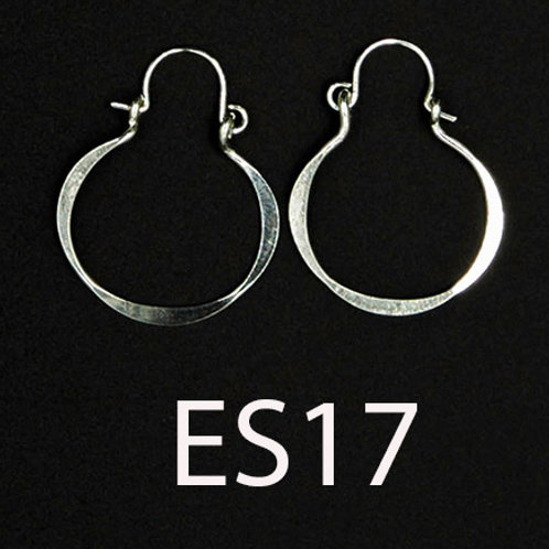 ES17 Sterling Silver 1.25 inch Long Wire Barrel Earrings