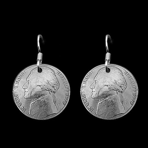 MS10 Coin Jewelry Nickle Earrings