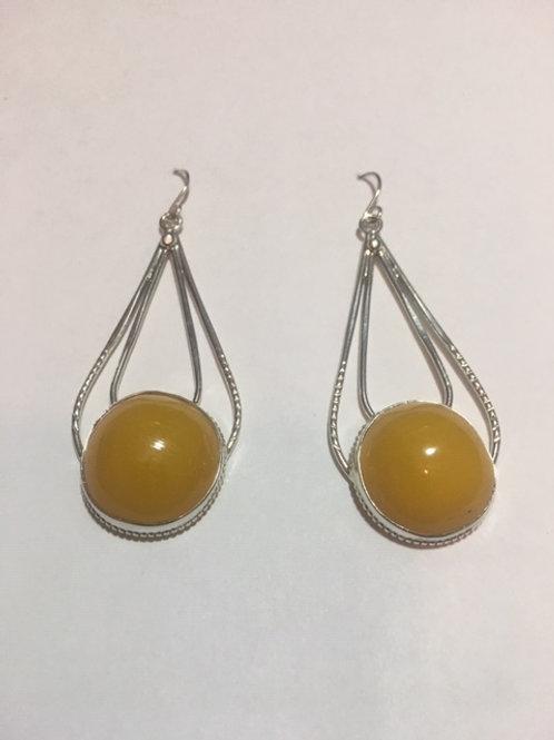 AE9 African Amber Earrings