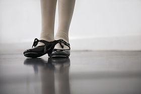 Preto brilhante sapatos de sapateado