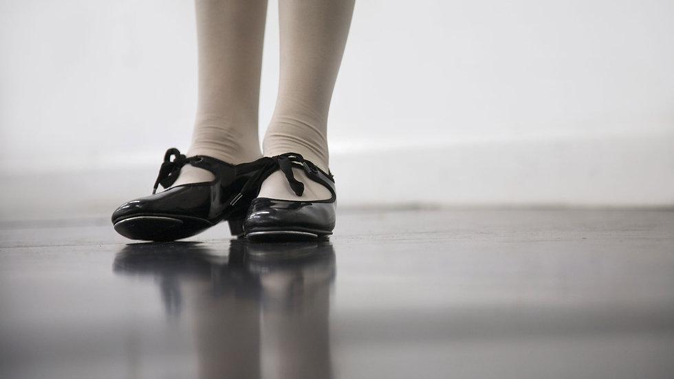 Ribbon Tie Tap Shoes