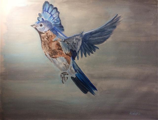 Midori Okuyama Bluebird V_Acrylic on Canvas_2015