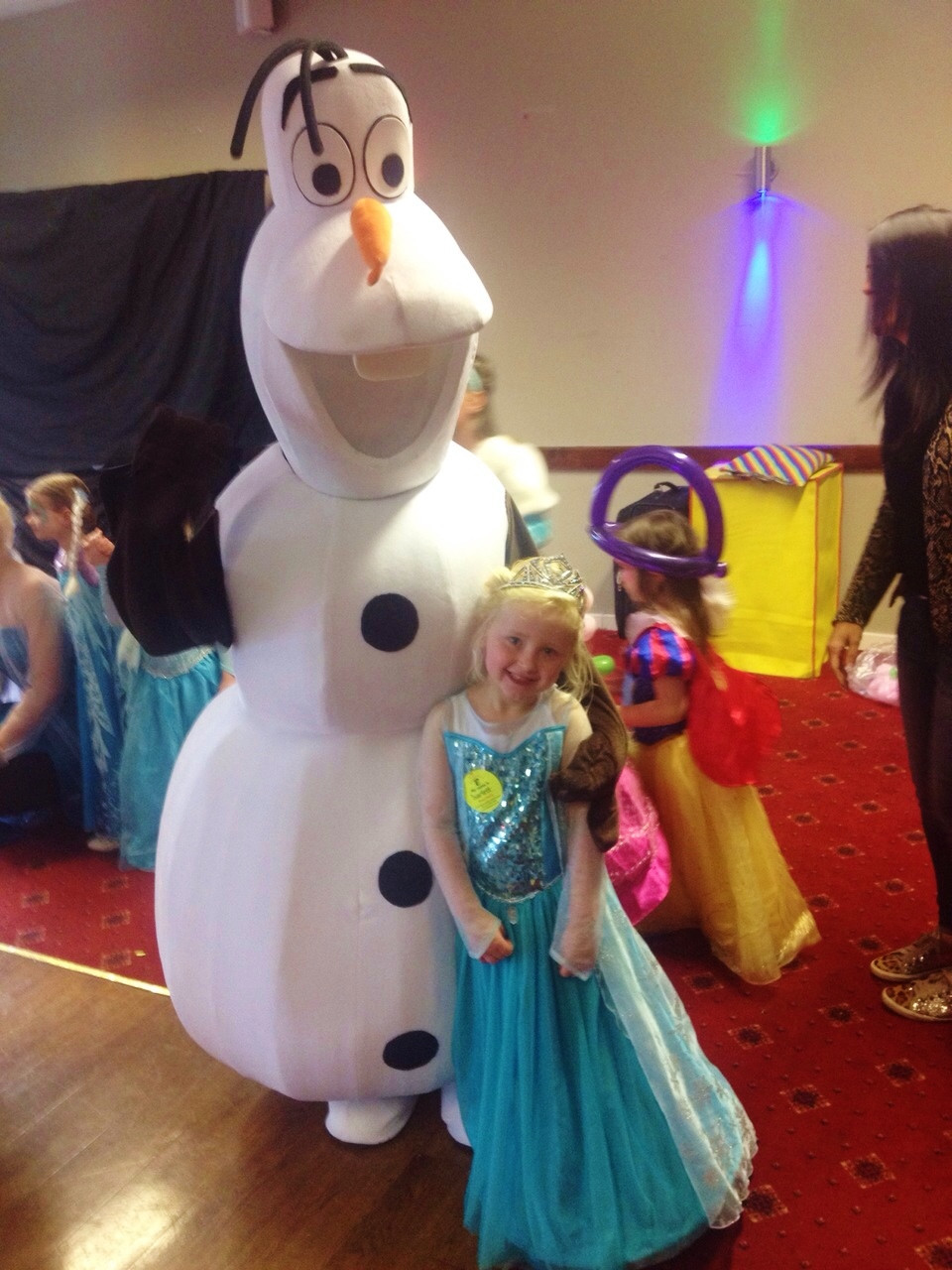 Christmas Frozen meet and greet characters