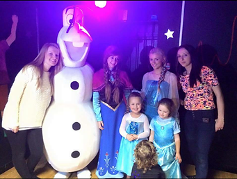 Olaf, Anna and Elsa Birmingham