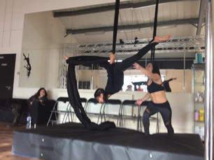 Children's dance classes mere green take first ever Aerial Lesson!!