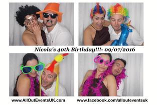 Photo Booth Hire Birmingham : Nicola's 40th Birthday!!